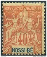 Nossi-bé (1894) N 36 * (charniere) - Ungebraucht