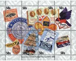 Ref. 38115 * MNH * - TONGA. 1986. CENTENARY OF THE STAMP . CENTENARIO DEL SELLO - Monedas