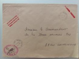 Enveloppe  Armée De L'air FATAC /1 RA Base Aérienne  116  Courrier Officiel Moyen De Sécurité Franchise Postale Luxeuil - Postmark Collection (Covers)