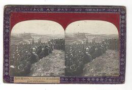 """Nebi - Moussa  , Départ Des Musulmans Pour Jérusalem  Stéréo  """" Voyage Au Pays Du Christ """"  ( Vers 1900 - 1905 ) - Stereoscopio"""