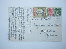 1927 , Julmarke Auf Karte - 1913-47 (Christian X)
