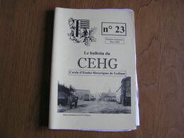 Bulletin CEHG N° 23 Gedinne Régionalisme Lieux Dits Rienne Wallon De La Semoy Travaux De Filles Clarinval - Bélgica