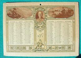 Calendrier 1917 - Guerre Fronts Russe, Italien, Anglais, Français - Ph ROSEN - Calendars