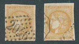 "DP-636: FRANCE: Lot Avec ""BORDEAUX"" Obl  N°43A/B - 1870 Bordeaux Printing"