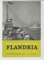 """DEPLIANTS TOURISTIQUES - BELGIQUE - ANVERS - """"FLANDRIA """" Services Et Tarifs 1960 - BATEAUX A VAPEUR - Visite Du Port - Reiseprospekte"""