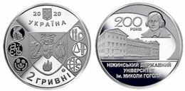 Ukraine - 2 Hryvni 2020 UNC 200 Years Of Nizhyn State University Named After Nikolai Gogol Lemberg-Zp - Ucrania
