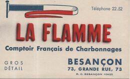 Buvard La Flamme Comptoir Français De Charbonnage Charbon Gros Détail Besançon 73 Grande Rue Téléphone 22.52 - Idrocarburi