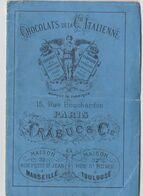 Album  Broderie Modèles De Dentelles Au Crochet Pour Napperon, Bonnet, Bordures ... Pub Chocolat Trabuc Piemontais Rare - Technische Plannen