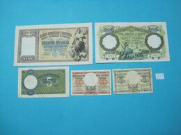 Albania Lot 5 Banknotes Nd 1939, 222 - Albania