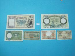 Albania Lot 6 Banknotes Nd 1939, - Albania