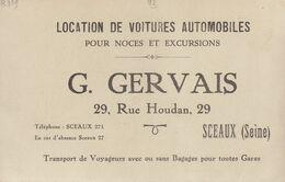 92 / Sceaux : Location De Voitures G. Gervais   ///   REF . Sept.  20   ///  N° 12.407 - Sceaux