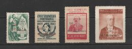 PORTUGAL RED CROSS OVERPRINTED 1945 ANNIVERSARY OF RED CROSS SET THE MOST SCARCE SET - Croce Rossa