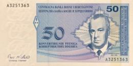 Bosnia 50 Convertible Pfeninga, P-57 (1998) - UNC - Bosnia And Herzegovina