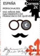 España. Spain. 2020. Personajes. 440 Aniversario Nacimiento Francisco De Quevedo - 2011-... Nuovi & Linguelle