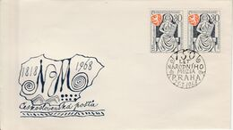 TCHECOSLOVAQUIE FDC 1968 MUSEE DE PRAGUE - FDC