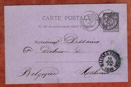 P 8 Allegorie, Bergues Nach Malines 1889 (97158) - Postal Stamped Stationery