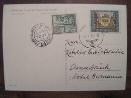 Jersey 1943 Cover Deutsches Reich DR Ww2 Besetzung Kanalinseln Channel Islands Osnabrück Mixte - Occupation 1938-45