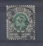 """K.U.T....KING EDWARD VII...(1901-10)....."""" 1907.."""".....25c......FOUR CORNERS, COMPLETE..........CDS......VFU. - Herrschaften Von Ostafrika Und Uganda"""
