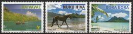 Polynésie Française 2020 - Cheval, Paysages Des îles Polynésiennes - 3 Val Neufs // Mnh - Neufs