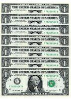 USA, 7 X 1$ Dollars 2013F, Atlanta Consecutive SerialNo.,as Scan - Biljetten Van De  Federal Reserve (1928-...)