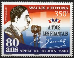 Wallis Et Futuna 2020 - Charles De Gaulle, Appel Du 18 Juin 1940 - Neuf // Mnh - Wallis-Et-Futuna