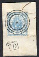 Luxembourg N°46 Oblitéré Sur Fragment ; Qualité Exceptionnelle - 1859-1880 Armoiries