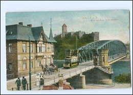 XX11024/ Halle A.S.  Straßenbahn Kutsche Brücke AK 1909 - Zonder Classificatie