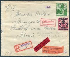 1940 Germany Poland Generalgouvernement Express Registered Cover Mielec - Sumiswald Switzerland. Censor Feldpost - Besetzungen 1938-45