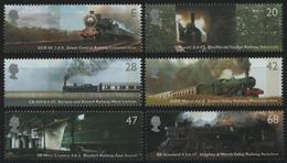 Großbritannien 2004 - Mi-Nr. 2174-2179 ** - MNH - Eisenbahn / Train - 1952-.... (Elizabeth II)