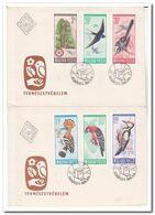 Hongarije 1966, 2 Registered Letters Send To Netherland, Trees, Birds - Hungary