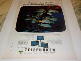 ANCIENNE PUBLICITE  TELEVISION TELEFUNKEN   1976 - Televisione