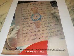 ANCIENNE PUBLICITE VRAIE  MONTRE KELTON  1976 - Juwelen & Horloges