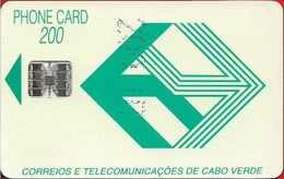 Cabo Verde - Cabo Verde Telecom - Green Logo (Cn. C3C543223) 09.1993, 200U, SC7, 90.000ex, Used - Kaapverdische Eilanden