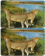 Namibia - Telecom Namibia - Cheetah, (2 CN. Short & Long), Siemens S30, (MID Cn. NAEI Xxxx Xxxx, Dashed Ø), 10$, Used - Namibie
