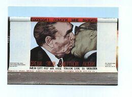 CP Utilisée. East Side Gallery, Berlin. Dmitri Vrubel. The Brejnev Kiss. Mein Gott, Hilf Mir Diese Tödliche Liebe Zu... - Politieke En Militaire Mannen