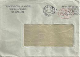 """Motiv Brief  """"Guggenbühl & Giger, St.Gallen""""  (Freistempel)          1936 - Brieven En Documenten"""