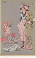 Cartolina - Militare, Genio. - Humour