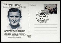 Croatia Zagreb 2016 / Olympic Games Helsinki 1952 / 90 Years Of Birth Ivica Horvat / Cro Football Legend / Silver Medal - Summer 1952: Helsinki