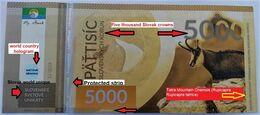 01. SLOVAKIA-FANTASY Banknote Slovak World Unique Specimen 5000 Sk No 1/10 UNC 194 Pcs I. Version 12/2019 - Slovacchia