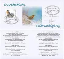 AB100 - Invitation SPAB And MPO - 1985-.. Pájaros (Buzin)