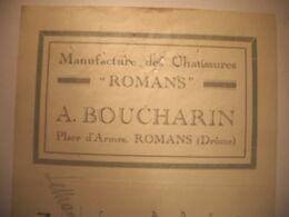 """Z026 - TRAITE DE 1922 - MANUFACTURE DES CHAUSSURES """"ROMANS""""  - A. BOUCHARIN à ROMANS - Drôme - Artesanos"""