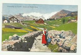 GRESSONEY LA TRINITE - ORSIA COL MONTE ROSA  1933  - VIAGGIATA   FP - Other Cities