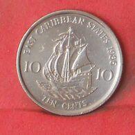 EAST CARIBBEAN STATES 10 CENTS 1986 -    KM# 13 - (Nº37662) - Caraibi Orientali (Stati Dei)