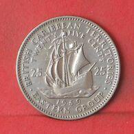 BRITISH CARIBBEAN TERRITORIES 25 CENTS 1959 -    KM# 6 - (Nº37663) - Caraibi Orientali (Stati Dei)