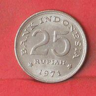 INDONESIA 25 RUPIAH 1971 -    KM# 34 - (Nº37665) - Indonesia