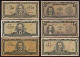Kuba - Cuba - 6 Stück á 1 Pesos Aus 1961-85 VG/F (4/5)    (25811 - Banconote