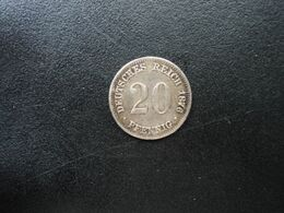 ALLEMAGNE * : 20 PFENNIG   1876 E    KM 5     TTB+ - [ 2] 1871-1918: Deutsches Kaiserreich