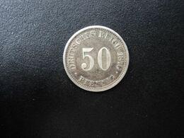 ALLEMAGNE * : 50 PFENNIG   1876 E    KM 6      TTB - [ 2] 1871-1918: Deutsches Kaiserreich