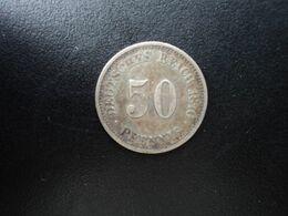 ALLEMAGNE * : 50 PFENNIG   1876 F    KM 6      TTB - [ 2] 1871-1918: Deutsches Kaiserreich