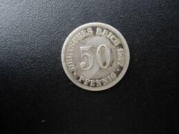 ALLEMAGNE * : 50 PFENNIG   1877 C    KM 6      TTB / TB+ - [ 2] 1871-1918: Deutsches Kaiserreich